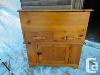 ANTIQUE EAST COAST PINE WASHSTAND, HAND CUT DOVETAIL