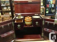 "This Antique Pipe & Tobacco Chest measures 9"" x 14"" and"