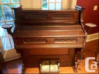 GW Cornwall antique reed Pump Organ manufactured by