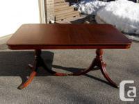 1) Elegant antique / vintage Duncan Phyfe style double