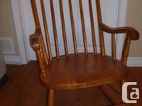 Antique rocker (pine) and Windsor birdcage back chair