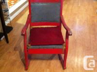 I have an Antique Christmas rocking chair for