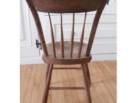 Antique rod-back chairs. This Windsor-style hardwood
