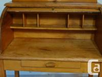 Antique Small Maple Roll Top Desk.....Completely