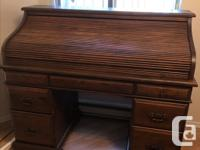 Beautiful antique desk believed to be walnut wood. Is