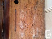 Antique schooldesk for sale. Features all original