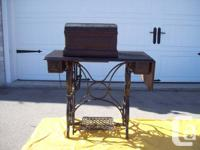 Antique Treadle Embroidery Device and ANTIQUE TORSO.