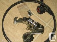 Antique Shifter and dual cable system with derailleur