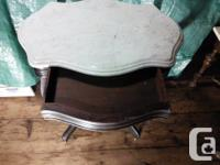 Antique mahogany side table with incredible patina as