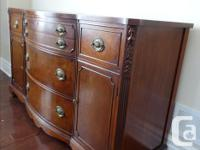 Beautiful solid wood sideboard and hutch with all