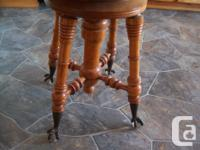 This stool is in mint condition.It has nice glass ball