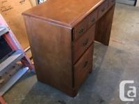 Very good condition solid wood desk. Vintage. No big