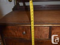 Antique solid wood vanity dresser with detachable