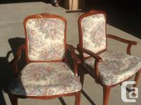 Walnut finish chairs in need of new foam to bring them