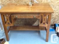 $375, solid wood, antique library desk size: 39 inch
