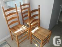 I got an antique looking wood table and chairs for
