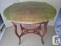 """Antique table. Table is 17""""x25""""x26"""" high. Asking $250."""