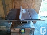 1940s Beaver tablesaw. Made in Guelph, Ontario. Light