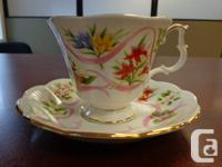 Good condition, no chips, various teacups and saucers.