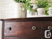 Beautiful antique tiger oak dresser. New hardware has