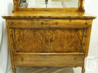 This is a beautiful antique tiger oak sideboard, hutch,