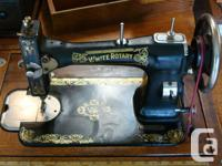 "Vintage ""White"" Treadle Sewing Machine in Working"