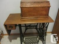 Antique Treadle Singer Sewing Machine - Box covers