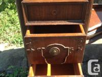 * Solid wood antique vanity * Drawers and doors all in