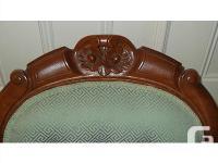 Antique Victorian Era Highback Carved Parlour Chair.
