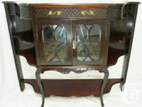 This is a beautiful antique Victorian mahogany etagere