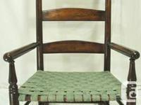 Antique Victorian ladder back rocking chair circa