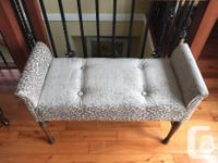 This old beauty was reupholstered in soft chenille