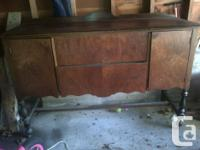 beautiful antique sideboard for sale. a small bit of