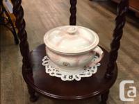 Antique Victorian Wash Stand Barley Twist Mirror Comes