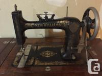This antique sewing machine belonged to my grandmother.
