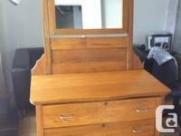 Antique solid wood dresser in mint condition. Three (3)