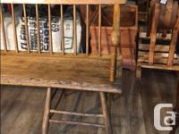 Antique Wooden Bench Purchased over 50 years ago at an