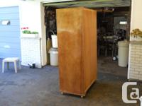 Antique Wooden Stand Alone Wardrobe Double Doors with