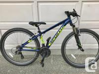 "Apollo Aspire 10 mountain bike with 14"" frame,"