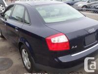 Make. Audi. Model. A4. Year. 2004. Colour. Blue. kms.