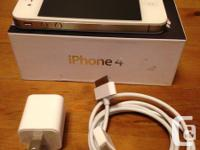 Apple iPhone 4 32GB White with Matte Screen Protector