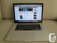 Apple MacBook Pro 15.4 Laptop i7-3615QM 2.3Ghz, 4GB