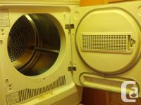 2.3 cu apartment sized dryer. Works perfectly. Washer