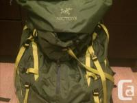 Brand new never used Arc'teryx Altra 85 AR Backpack -
