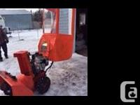 Selling for my dad. Like new 305cc Ariens Polar Force