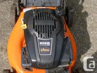 Excellent mower with a Kohler engine---easy start auto
