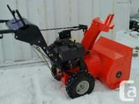 "Two-stage standard 24"" Ariens gas snowblower, 8 HP"