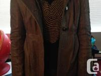 Brown size XS Mackage leather jacket bought at aritzia