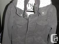 Excellent condition Trooper Jacket Size Small, Charcoal