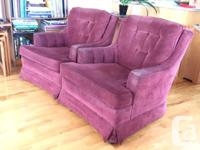 These two arm chairs were custom built for us, and have
